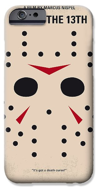 Graphic Design iPhone Cases - No449 My Friday the 13th minimal movie poster iPhone Case by Chungkong Art