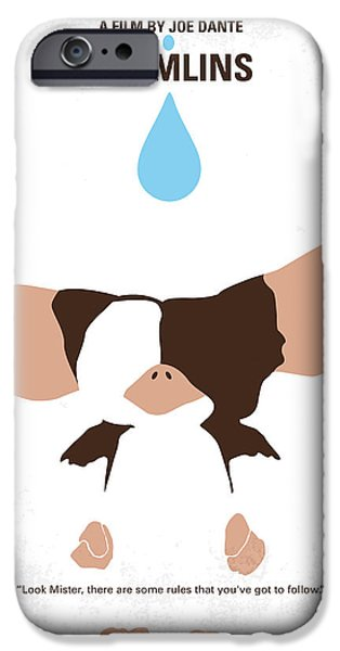 Pets Digital iPhone Cases - No451 My Gremlins minimal movie poster iPhone Case by Chungkong Art