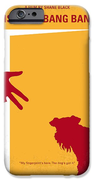 Bang iPhone Cases - No452 My Kiss Kiss Bang Bang minimal movie poster iPhone Case by Chungkong Art
