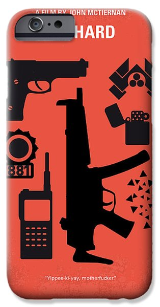 Graphic Design iPhone Cases - No453 My Die Hard minimal movie poster iPhone Case by Chungkong Art