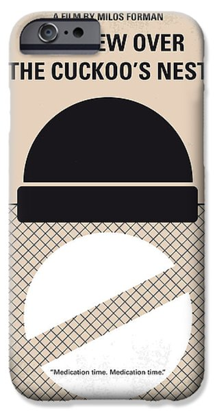 Nests iPhone Cases - No454 My One Flew Over the Cuckoos Nest minimal movie poster iPhone Case by Chungkong Art