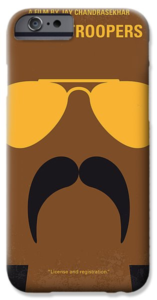 Police Art iPhone Cases - No459 My Super Troopers minimal movie poster iPhone Case by Chungkong Art