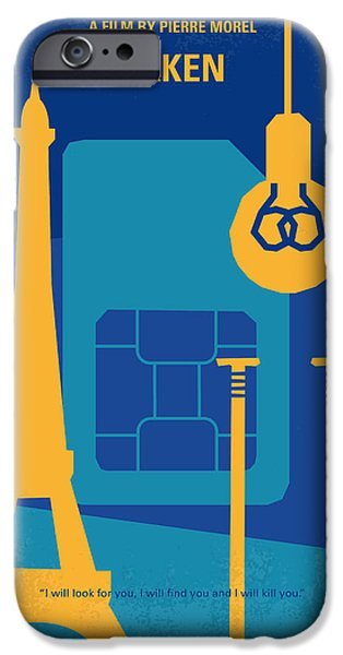 Graphic Design iPhone Cases - No469 My Taken minimal movie poster iPhone Case by Chungkong Art