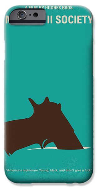 Escape Digital iPhone Cases - No484 My Menace II Society minimal movie poster iPhone Case by Chungkong Art