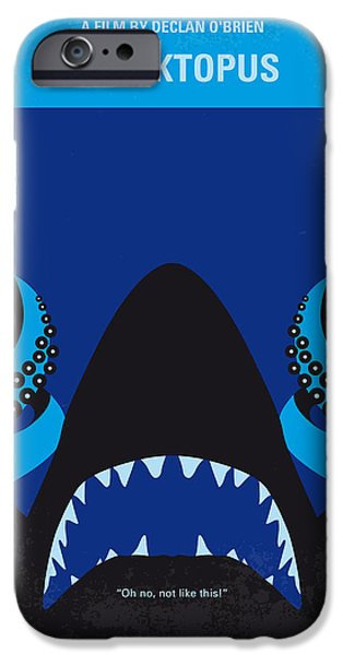 Graphic Design iPhone Cases - No485 My Sharktopus minimal movie poster iPhone Case by Chungkong Art