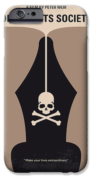 Society iPhone Cases - No486 My Dead Poets Society minimal movie poster iPhone Case by Chungkong Art