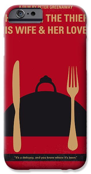 Crime iPhone Cases - No486 My The Cook the Thief His Wife and Her Lover minimal movie iPhone Case by Chungkong Art