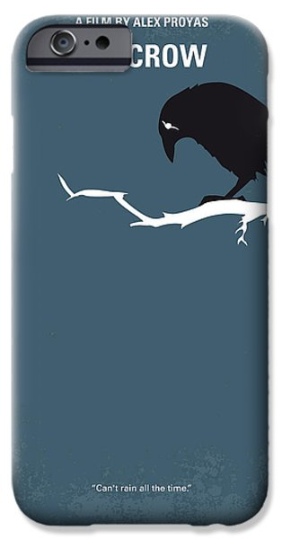 Crows Digital Art iPhone Cases - No488 My The Crow minimal movie poster iPhone Case by Chungkong Art