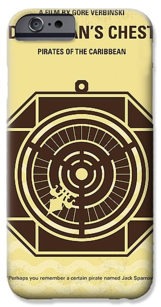 Pirate iPhone Cases - No494-2 My Pirates of the Caribbean II minimal movie poster iPhone Case by Chungkong Art