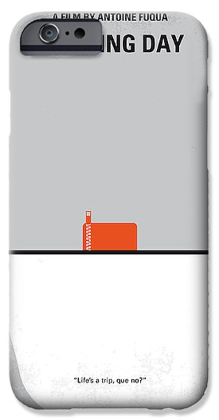 Training iPhone Cases - No497 My Training Day minimal movie poster iPhone Case by Chungkong Art