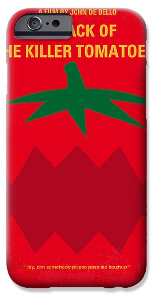 Attack iPhone Cases - No499 My Attack of the Killer Tomatoes minimal movie poster iPhone Case by Chungkong Art