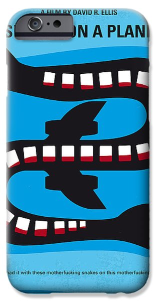 Flight iPhone Cases - No501 My Snakes on a Plane minimal movie poster iPhone Case by Chungkong Art