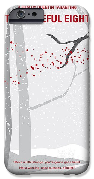Red Rock iPhone Cases - No502 My Hateful eight minimal movie poster iPhone Case by Chungkong Art