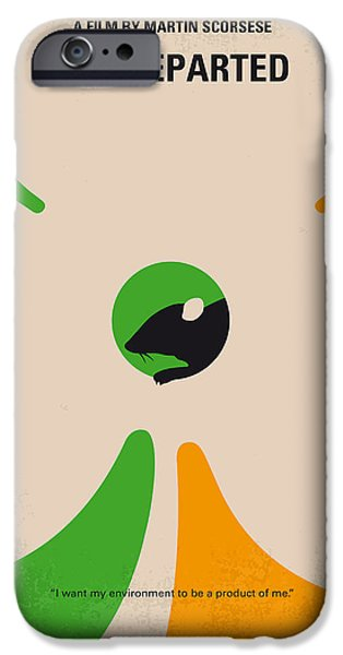 Boston iPhone Cases - No506 My The Departed minimal movie poster iPhone Case by Chungkong Art