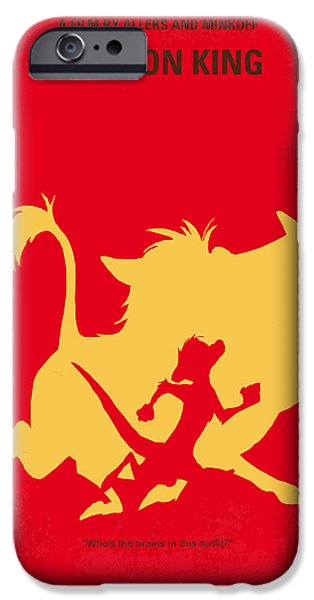 Lion Art iPhone Cases - No512 My The Lion King minimal movie poster iPhone Case by Chungkong Art