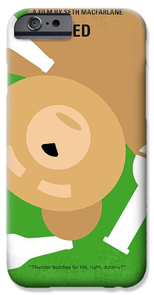 Miracle iPhone Cases - No519 My TED minimal movie poster iPhone Case by Chungkong Art