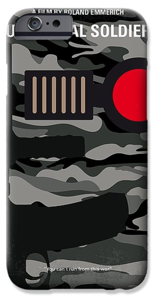 Soldiers Digital iPhone Cases - No523 My Universal Soldier minimal movie poster iPhone Case by Chungkong Art