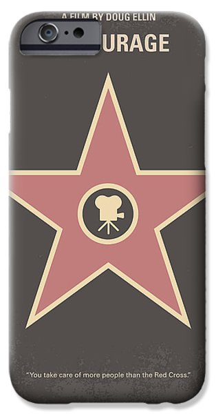 Vince iPhone Cases - No525 My Entourage minimal movie poster iPhone Case by Chungkong Art