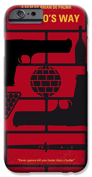 Al Pacino iPhone Cases - No530 My Carlitos Way minimal movie poster iPhone Case by Chungkong Art