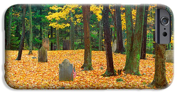 Headstones iPhone Cases - Noah Phelps Grave In Revolutionary War iPhone Case by Panoramic Images