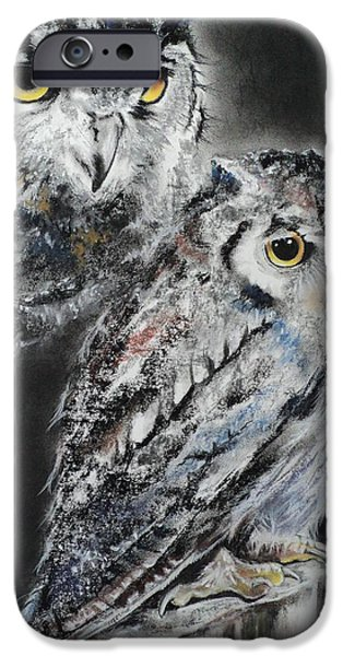 Recently Sold -  - Pastel iPhone Cases - Noble Owl Guardian of the Afterlife iPhone Case by Carla Carson