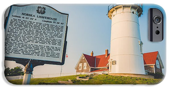 New England Lighthouse iPhone Cases - Nobska Lighthouse iPhone Case by Black Brook Photography