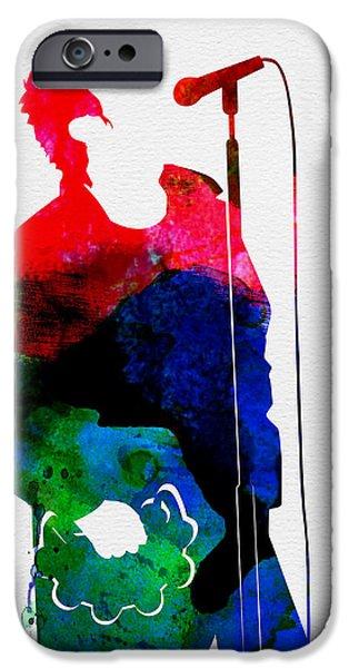 British Rock Star iPhone Cases - Noel Watercolor iPhone Case by Naxart Studio