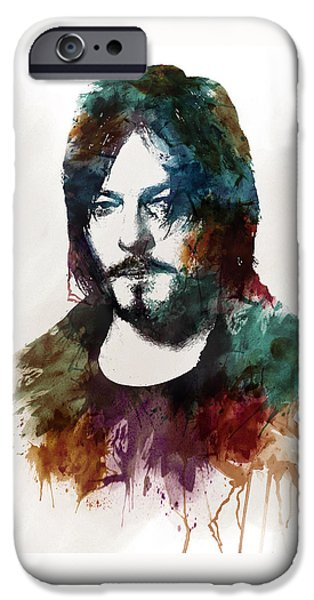 Marian iPhone Cases - Norman Reedus aka Daryl Dixon from The Walking Dead  iPhone Case by Marian Voicu