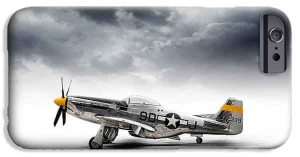 P-51 Mustang iPhone Cases - North American P-51 Mustang iPhone Case by Douglas Pittman