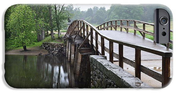 Concord Ma. iPhone Cases - North Bridge iPhone Case by Leslie M Browning