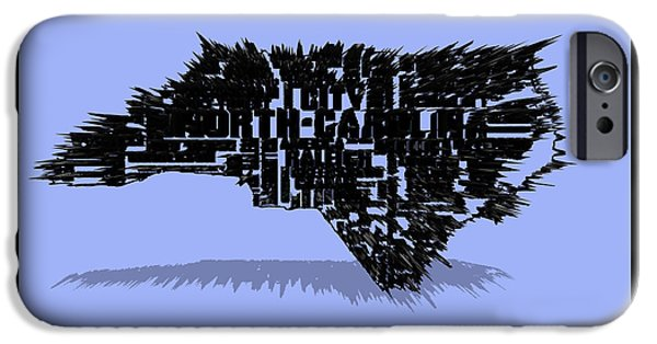 Jordan iPhone Cases - North Carolina Typographic Map 4a iPhone Case by Brian Reaves
