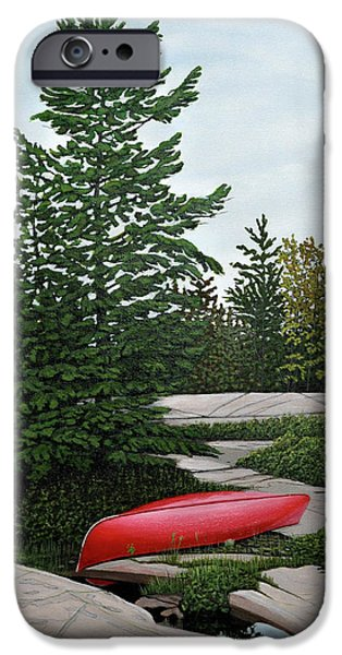 North Country Canoe iPhone Case by Kenneth M  Kirsch