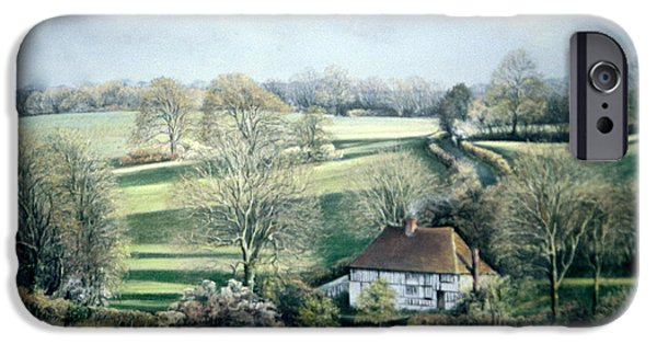Tree Art Print iPhone Cases - North Downs Hideaway iPhone Case by Rosemary Colyer