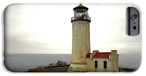 Head Harbour Lighthouse iPhone Cases - North Head Lighthouse - Graveyard of the Pacific - Ilwaco WA iPhone Case by Christine Till