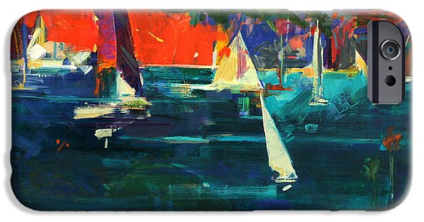 Boat iPhone Cases - North Head  Sydney Harbour iPhone Case by Peter Graham