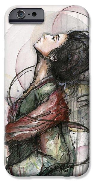Watercolor! Art iPhone Cases - North  iPhone Case by Olga Shvartsur