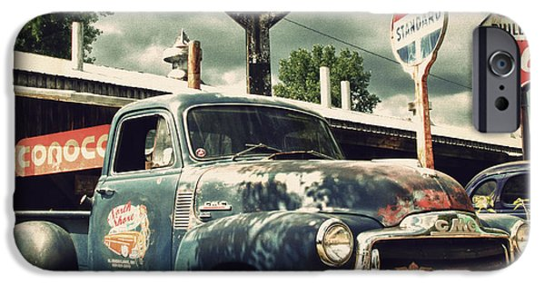 Old Truck iPhone Cases - North Shore Garage iPhone Case by Joel Witmeyer