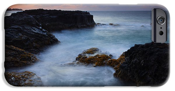Ocean Sunset iPhone Cases - North Shore Tides iPhone Case by Mike  Dawson