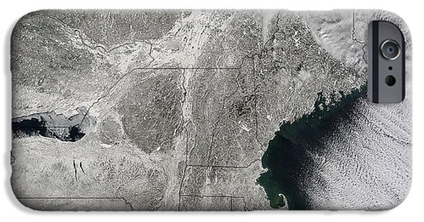 Winter Storm iPhone Cases - Northeast Winter 2015 iPhone Case by Science Source