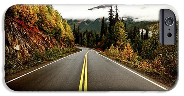 Asphalt Digital iPhone Cases - Northern Highway Yukon iPhone Case by Mark Duffy