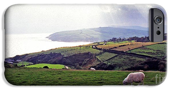 Grazing Sheep iPhone Cases - Northern Ireland Panoramic  iPhone Case by Thomas R Fletcher