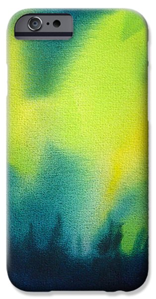 Northern Lights I iPhone Case by Kathy Braud