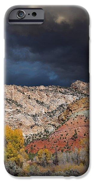Storm iPhone Cases - Northern Uintas Autumn iPhone Case by Kathleen Bishop
