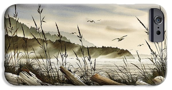 Landscape Greeting Cards iPhone Cases - Northwest Shore iPhone Case by James Williamson