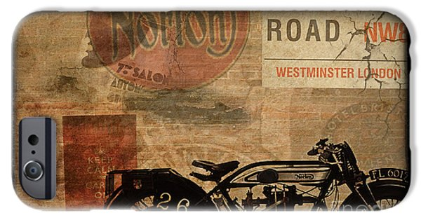 Motorcycle iPhone Cases - Norton iPhone Case by Cinema Photography