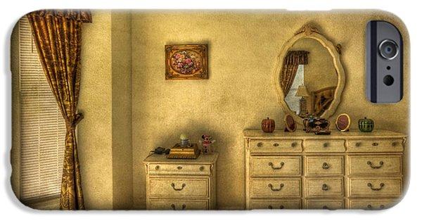 Furniture iPhone Cases - Nostalgic Harmonies  iPhone Case by Evelina Kremsdorf