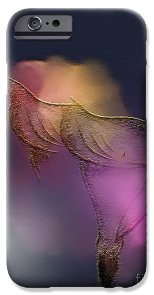 Abstract Expressionist Drawings iPhone Cases - Not So Delicate iPhone Case by John Krakora