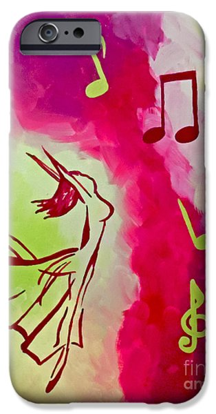 Ballet Dancers iPhone Cases - Notes of Delight iPhone Case by Jilian Cramb