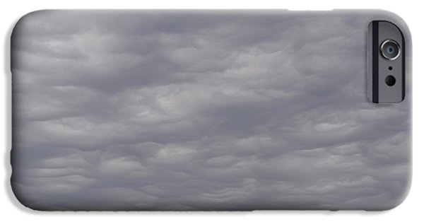 Colorful Abstract iPhone Cases - Nothing But Grey Skies iPhone Case by Richard Andrews