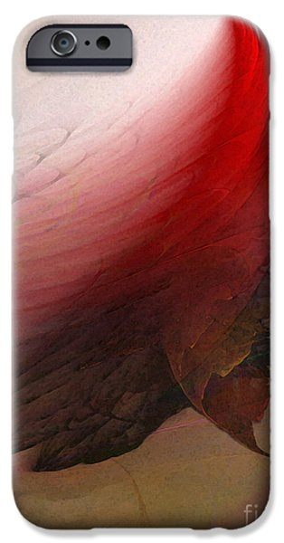 Contemporary Abstract iPhone Cases - Nothing Lasts iPhone Case by Karin Kuhlmann